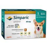 Antipulgas Simparic 40MG para Cães de 10,1 a 20k 1 Comprimido - Zoetis