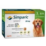 Antipulgas Simparic 80MG para Cães de 20,1 a 40k 1 Comprimido - Zoetis