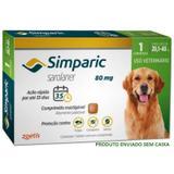 Antipulgas simparic cães 20,1 a 40kg 1 comp. 80mg avulso