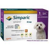 Antipulgas simparic cães 2,6 a 5 kg 1 comprimido 10mg avulso