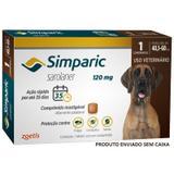 Antipulgas simparic cães 40,1 a 60kg 1 comp. 120mg avulso