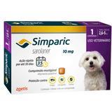 Antipulgas Zoetis Simparic 10 mg para Cães 2,6 a 5 Kg 3 Comprimidos