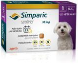 Antipulgas Zoetis Simparic 10 Mg Para Cães 2,6 A 5 Kg com 1 comprimido