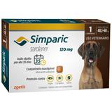 Antipulgas Zoetis Simparic 120 Mg Para Cães 40,1 A 60 Kg