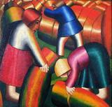 Apanhadores de Centeio - Kazimir Malevich - Tela 60x62 Para Quadro - Santhatela