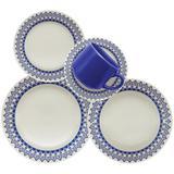 Aparelho de Jantar 30 peças Grecia Azul - Oxford - Oxford es