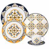 Aparelho de Jantar Cerâmica Amarelo 30 Peças São Luís -  Oxford Porcelanas