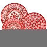 Aparelho de Jantar Chá 20 peças em Cerâmica Floreal Renda - Oxford