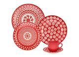 Aparelho de Jantar e Chá 30 Peças Cerâmica Daily Floreal Renda Oxford - OXF 448