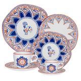 Aparelho De Jantar Oxford Barcelos Ryo 42 Peças Porcelana