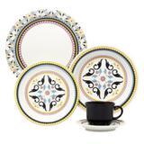 Aparelho de Jantar Oxford Floreal Luiza Redondo de Porcelana 30 peças - J164-6750
