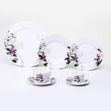 Aparelho de Jantar White Flowers - 42 Peças - Lyor classic