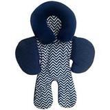 Apoio De Corpo Reversível para Bebê Conforto Chevron Marinho - I9 baby