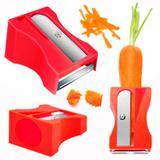 Apontador de Cenoura Ralador Descascador de Legumes e Frutas Vermelho  riomaster