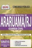 Apostila Prefeitura de Araruama 2019 - GUARDA CIVIL - Opção