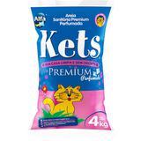 Areia Higiênica Kets Premium Perfumada para Gatos - 4Kg - Alfapet