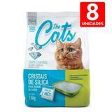 Areia Higiênica para Gatos Sílica Micro Cristais em Gel 1,6KG The Pets Brasil 8 un