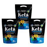 Areia Kets Finissimo Granulado para Gatos - 24kg - Alfapet