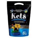 Areia Kets Finissimo Granulado para Gatos - 8kg - Alfapet