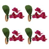 Argola Guardanapo Auguri Casa Haste Orquídea Rosa 4PÇS - 31580