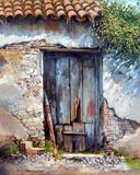 Armazém Antigo - Francesco Mangialardi - Tela 60x74 Para Quadro - Santhatela