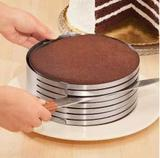 Aro de metal cortador fatiador de inox com ajuste para bolo de 20cm - Fu xing