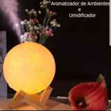 Aromatizador Umidificador Lua Luminaria Led Com Difusor