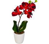 Arranjo Artificial Orquídea Falenópsis Bordô 35 cm - Kasacia