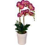 Arranjo Artificial Orquídea Falenópsis Bordô 45 cm - Kasacia