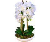 Arranjo Artificial Orquídea Falenópsis Branca 45 cm - Kasacia