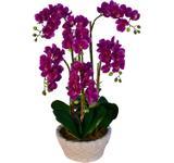Arranjo Artificial Orquídea Falenópsis Lilás 58 cm - Kasacia