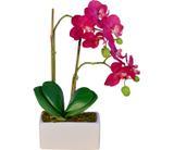 Arranjo Artificial Orquídea Falenópsis Vermelha 35 cm - Kasacia