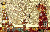 Árvore da Vida (1905) - Gustav Klimt - Tela 30x46 Para Quadro - Santhatela