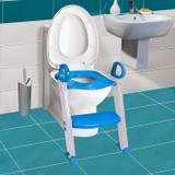 Assento Redutor com escada e alça Clingo Azul Brasbaby