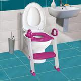 Assento Redutor Com Escada Toilet Training Rosa Clingo C2504