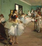 Aula de Dança - Edgar Degas - Tela 30x32 Para Quadro - Santhatela
