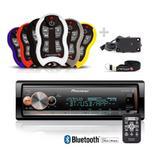Auto Radio Pioneer Mvh-x300br bluetooth + Controle Longa Distancia Stetsom Sx2 500 Metros