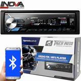 AUTO RADIO Som Automotivo Mp3 Player Tiger Auto C/ Bluetooth Usb,sd,aux,fm e app
