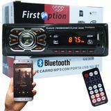 Auto Rádio Som Mp3 Player Automotivo Carro Bluetooth Fm Sd Usb Controle - First option