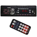 Auto Rádio Som Mp3 Player Automotivo Toca Som Carro Fm Sd Usb Aux Controle First Option 8860