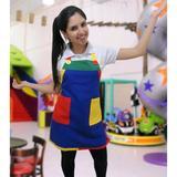Avental Colorido para Festa Infantil - Azul - Aquarela