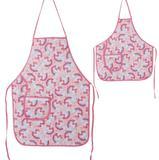 Avental De Cozinha Mãe E Filha Unicórnio Rosa - Recanto da costura