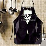 Avental divertido e personalizado: 007 - Recanto da costura