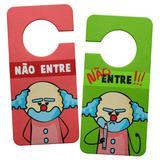 Aviso de Porta Ecológico DrPepper Paiaço - Nunca Entre - Yaay