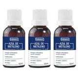 Azul de Metileno 1 Farmax 30ml Kit 3 Unidades