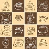 Azulejos Hidráulicos 20 x 20 cm - Café (16 adesivos) - Leguts adesivos especiais
