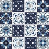 Azulejos Hidráulicos 20 x 20 cm - Tons de Azul (16 adesivos) - Leguts adesivos especiais