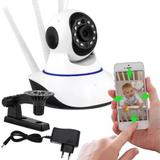 Baba Eletrônica Câmera Wifi Hd Robo Wireless Áudio 3 Antenas - Marca