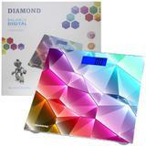 Balança Banheiro Digital Academia Vidro Temperado 180 Kg Roadstar Diamond Cuidados Corpo Qualidade