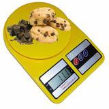 Balança digital de precisão cozinha 1g a 10 kg AMARELA CBRN02566 - Commerce brasil